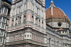 The stunning Duomo in the center of the old town of Florence royalty free stock photos