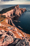 Stunning dusk at the Neist point lighthouse in Scotland Royalty Free Stock Photography