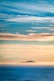 Stunning dusk over ocean as background Stock Photos