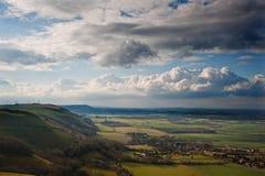 Stunning escarpment countryside landscape Royalty Free Stock Photo
