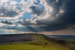 Stunning escarpment countryside landscape Stock Image