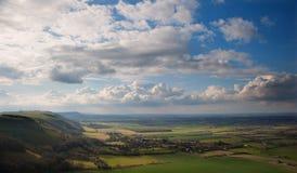 Stunning escarpment countryside landscape Stock Images