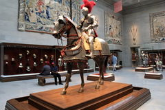 Stunning exhibit in the medieval room, Cleveland Art Museum, Ohio, 2016 Royalty Free Stock Photo