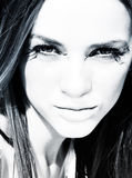 Stunning eyes. Young european with amazing eyes, in black & white Royalty Free Stock Images