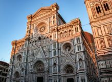 The Famous Florence Cathedral. The stunning façade of the Florence Cathedral Duomo in Florence, Italy stock images