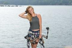 Stunning female archer Royalty Free Stock Image