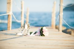 Stunning flowers for an exquisite wedding royalty free stock photos