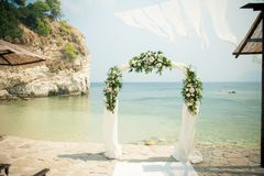 Stunning flowers for an exquisite wedding royalty free stock image