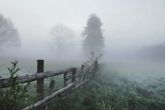 Stunning foggy landscape Royalty Free Stock Photography