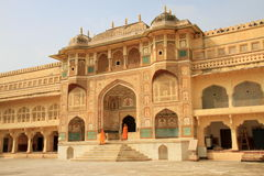 The Stunning Ganesh Pol at Amber Fort, Jaipur, Rajasthan, India stock image