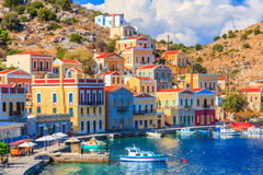Stunning Greek Island. Beautiful summers day on the Greek island of Symi in the Dodecanese Greece Europe stock photos