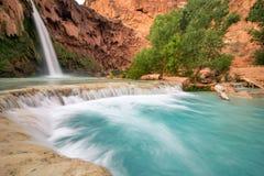 Stunning Havasu Falls. The amazing color of this water at Havasu Falls, Arizona Stock Image