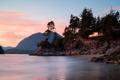 Stunning house across the sea in Tofino Beach, Canada. Stunning house across the sea in Tofino Beach, Vancouver Island, Canada Stock Image