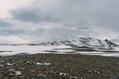 Stunning Iceland krajobrazu fotografia Podróżować od Lodowatych fjords śnieżne góry zamrażać laguny Zdjęcia Stock