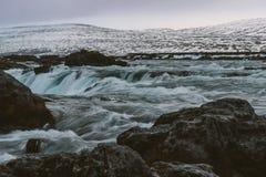 Stunning Iceland krajobrazu fotografia Podróżować od Lodowatych fjords śnieżne góry zamrażać laguny Obraz Stock