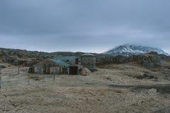 Stunning Iceland krajobrazu fotografia Podróżować od Lodowatych fjords śnieżne góry zamrażać laguny Fotografia Stock