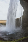 Stunning Iceland landscape photography. Beautiful waterfall Seljalandsfoss on the country side in the mountains of Iceland Royalty Free Stock Photography