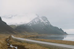 Stunning Iceland landscape photography. Traveling from Icy fjords to snowy mountains to ice lagoons. Photos shot during i road trip while driving the full ring Stock Photo