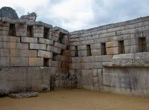 The Inca Ruins at Machu Picchu. The stunning Inca ruins at Machu Picchu, Peru with their intricate masonry skills stock images