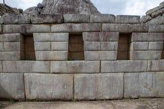 The Inca Ruins at Machu Picchu. The stunning Inca ruins at Machu Picchu, Peru with their intricate masonry skills royalty free stock photography