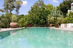 Stunning infinity pool Stock Photo