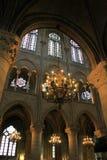 Stunning interior architecture,Notre Dame,Paris,2016 Stock Photos
