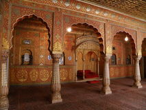 Stunning Interior Decoration of the Old Palace in Rajasthan, India Stock Images