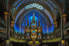Stunning interior of Notre-Dame Basilica in Montreal, Canada. Stock Photo