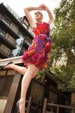 Stunning jumping girl Stock Photo