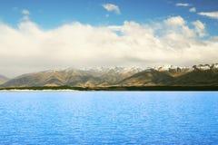 Stunning Lake at New Zealand. Beautiful mountain and lake at New Zealand Royalty Free Stock Photography