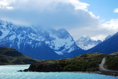 Stunning lake and road in Patagonia Stock Photography