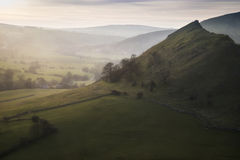 Stunning landscape of Chrome Hill and Parkhouse Hill Royalty Free Stock Images