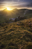 Stunning landscape of Chrome Hill and Parkhouse Hill Stock Photos