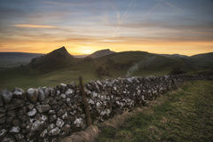 Stunning landscape of Chrome Hill and Parkhouse Hill Stock Photo