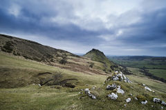 Stunning landscape of Chrome Hill and Parkhouse Hill in Peak Dis Stock Photos