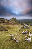 Stunning landscape of Chrome Hill and Parkhouse Hill in Peak Dis Stock Images