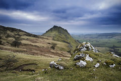 Stunning landscape of Chrome Hill and Parkhouse Hill in Peak Dis Stock Photography