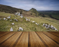 Stunning landscape of Chrome Hill and Parkhouse Hill in Peak Dis Stock Photo
