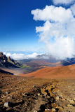 Stunning landscape of Haleakala volcano crater seen from the Sliding Sands trail, Maui, Hawaii Royalty Free Stock Photo