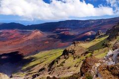 Stunning landscape of Haleakala volcano crater taken at Kalahaku overlook at Haleakala summit. Maui, Hawaii. Stunning landscape of Haleakala volcano crater taken Royalty Free Stock Photo