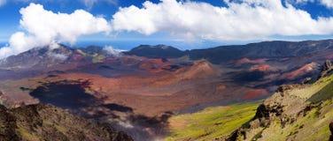 Stunning landscape of Haleakala volcano crater taken at Kalahaku overlook at Haleakala summit, Maui, Hawaii. Stunning landscape of Haleakala volcano crater taken Stock Photography