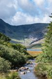 Stunning landscape image of countryside around Llyn Ogwen in Sno. Beautiful landscape image of countryside around Llyn Ogwen in Snowdonia during early Autumn royalty free stock photography