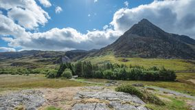 Stunning landscape image of countryside around Llyn Ogwen in Sno royalty free stock image
