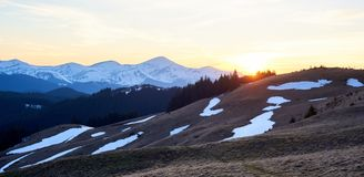 Stunning landscape of nature. Sunrise in the mountains beautiful natural landscape Royalty Free Stock Images