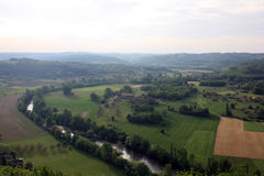 The stunning landscape of a river in Domme town, Dordogne Valley Royalty Free Stock Image