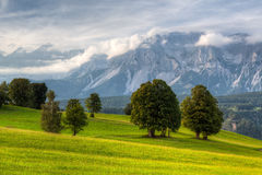 Stunning landscape in the Schladming Royalty Free Stock Photo