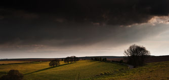 Stunning landscape with stormy sky Royalty Free Stock Photography