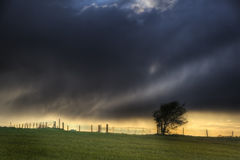 Stunning landscape with stormy sky Stock Photo