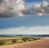Stunning landscape with stormy sky Stock Images