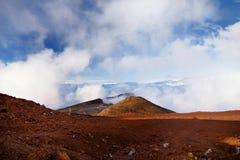 Stunning landscape view of Haleakala volcano area seen from the summit. Maui, Hawaii. USA Stock Photo